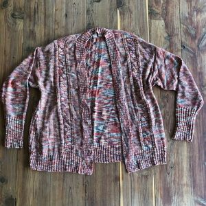 Madison Open Front Multi Color Sweater